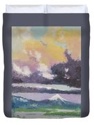 Clouds Of Mt Hood Duvet Cover