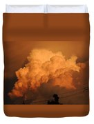 Clouds On Fire Duvet Cover