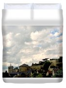 Clouds Over Amboise Duvet Cover