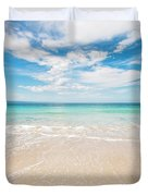 Clouds Over Blue Sea Duvet Cover