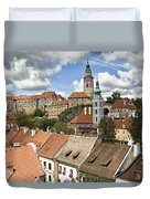 Clouds Over Cesky Krumlov Duvet Cover