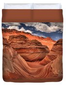 Clouds Over Coyote Buttes North Duvet Cover