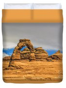 Clouds Over Delicate Arch Duvet Cover