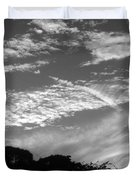 Clouds Over Florida Duvet Cover