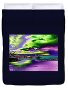 Clouds Over Harbor Island Duvet Cover