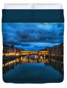 Clouds Over Ponte Vecchio Duvet Cover