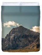 Clouds Over Red Rock Canyon Duvet Cover