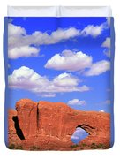 Clouds Over The Arches Duvet Cover