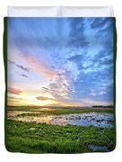 Clouds Over The Marsh 4 Duvet Cover