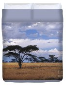Clouds Over The Masai Mara Duvet Cover