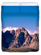 Clouds Over The Mountain Duvet Cover