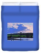 Clouds Over The Shannon, Ireland Duvet Cover