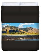 Clouds Over The Teton Foothills Duvet Cover