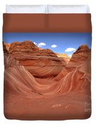 Clouds Over The Wave Duvet Cover