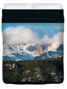 Clouds Receding On Pikes Peak Duvet Cover