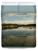 Clouds Reflecting In An Alpine Lake.  Duvet Cover