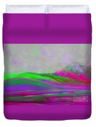 Clouds Rolling In Abstract Landscape Purple And Hot Pink Duvet Cover
