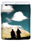Clouds Way Kailas Kora Himalayas Tibet Yantra.lv Duvet Cover