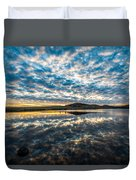 Cloudscape - Reflection Of Sky In Wichita Mountains Oklahoma Duvet Cover