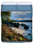 Cloudy Autumn Sunset Duvet Cover