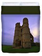 Cloudy Donnington Castle Duvet Cover