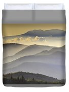 Cloudy Layers On The Blue Ridge Parkway - Nc Sunrise Scene Duvet Cover by Rob Travis