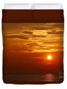 Cloudy Sunset On Lake Ontario - 27 August 2018 Duvet Cover