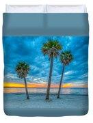 Cloudy Sunset -tampa, Florida Duvet Cover