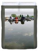 Cloudy Water At Barton Marina Duvet Cover