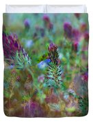 Clover Field Impressions Duvet Cover