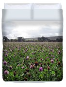 Clover Field Wiltshire England Duvet Cover