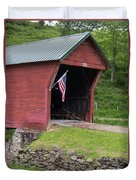 Clover Hollow Covered Bridge 01 Duvet Cover