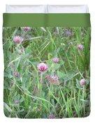 Clover In The Grass Duvet Cover