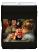 Clown - Face Painting Duvet Cover by Mike Savad