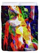 10780 Clown 3 - My Best Friend Neon Duvet Cover