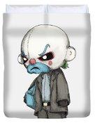 Clown Bank Robber Plush Duvet Cover