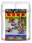 Clown Car Racing Game Duvet Cover
