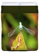 Clown Face Dragonfly Duvet Cover