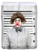 Clown Mug Shot Duvet Cover
