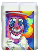 Clown With Balloons Duvet Cover