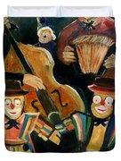 Clowns Duvet Cover by Pol Ledent