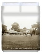Club House And Golf Links, Old Del Monte, Monterey, California Circa 1920 Duvet Cover