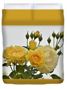 Cluster Of Yellow Roses Duvet Cover