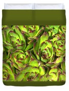 Clustered Succulents Duvet Cover