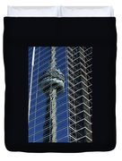 Cn Tower Reflected In A Glass Highrise Duvet Cover