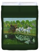 Coach And Four In Hand Duvet Cover