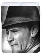 Coach Tom Landry Duvet Cover