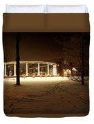 Coady International Institute Winter Night Nova Scotia Duvet Cover