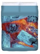Coals And Embers Duvet Cover