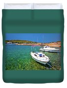 Coast And Beach Of Prvic Island Summer View Duvet Cover